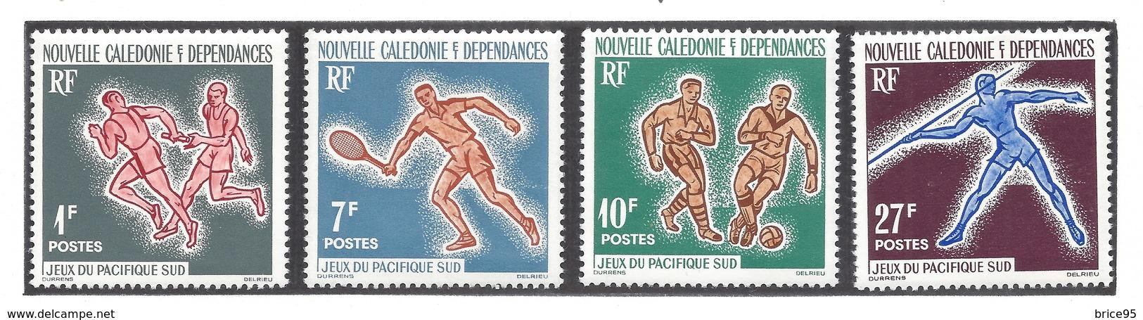 Nouvelle Calédonie - YT N° 308 à 311 - Neuf Avec Charnière - Thématique Sport - 1963 - New Caledonia