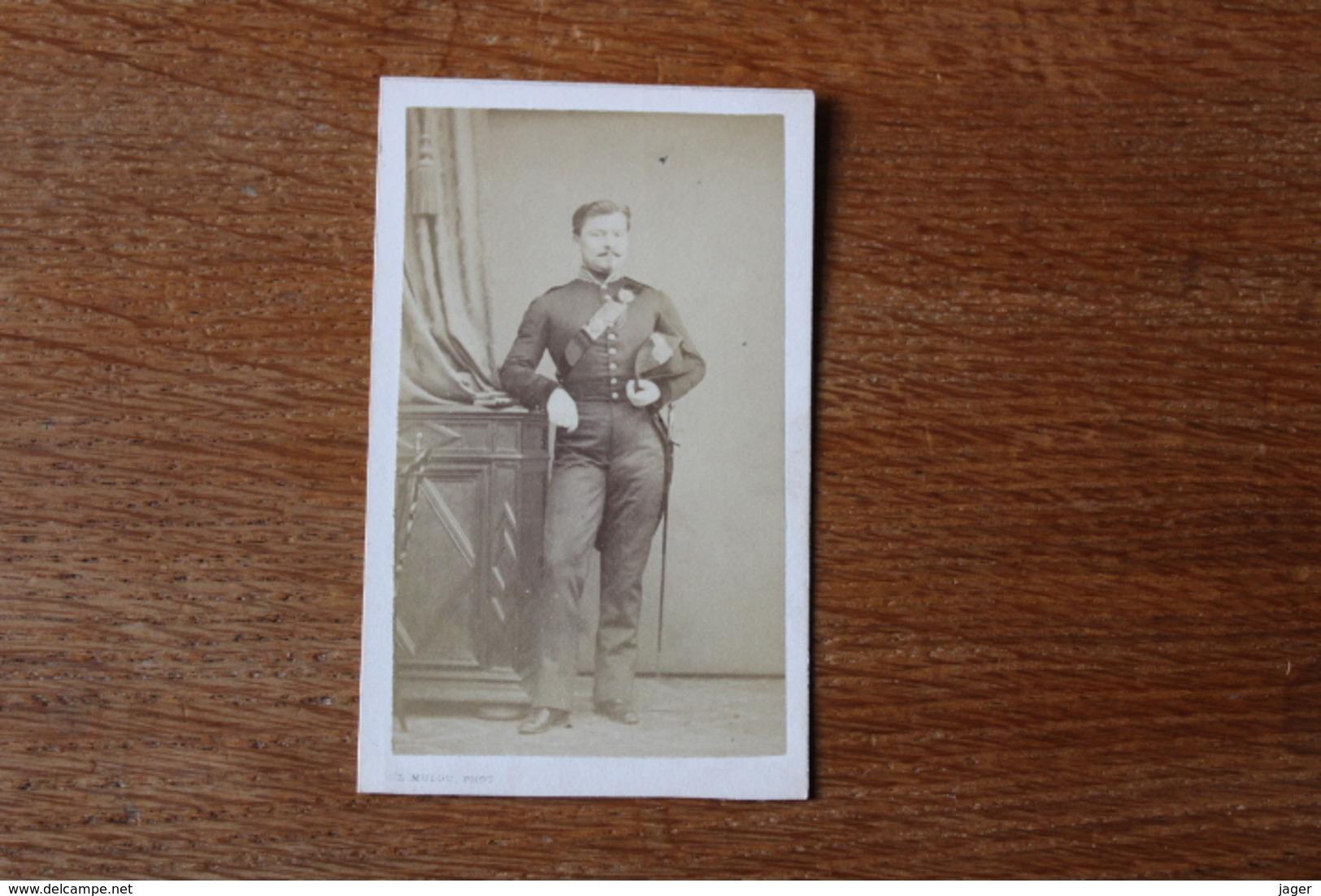 Cdv Second Empire  Officier Medecin  Giberne  Par Mulot - Guerra, Militares