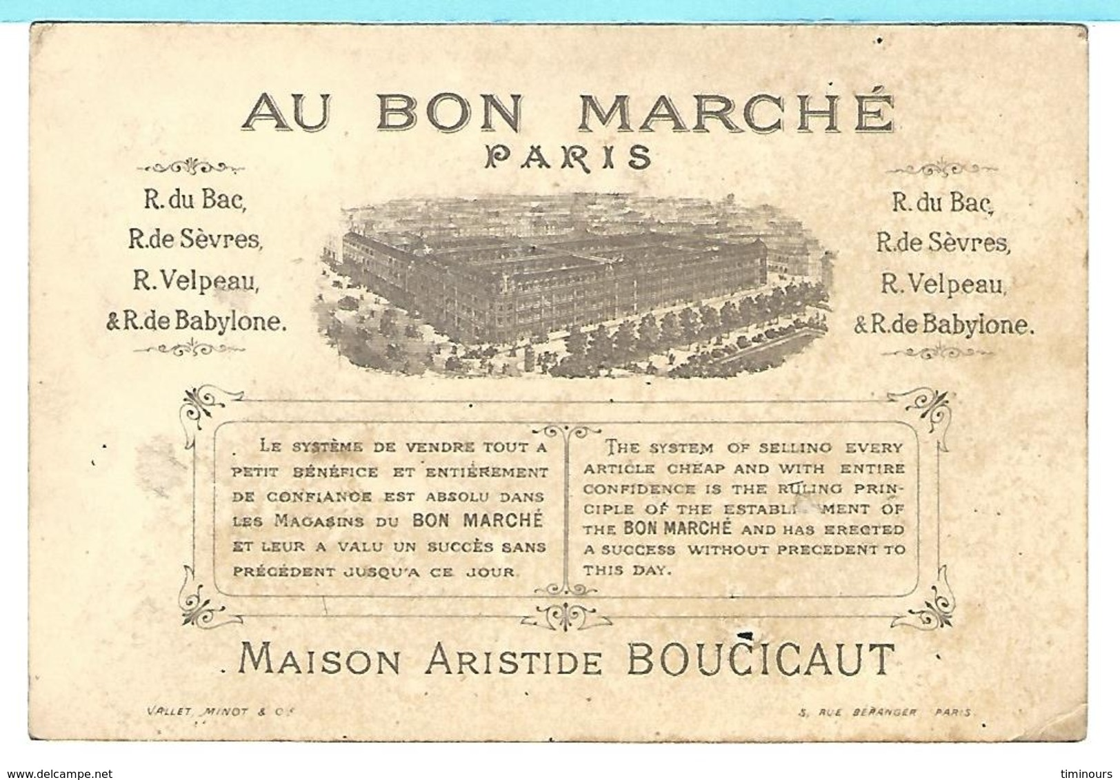 CHROMO AU BON MARCHE ARTILLERIE Fille Fusil - Au Bon Marché