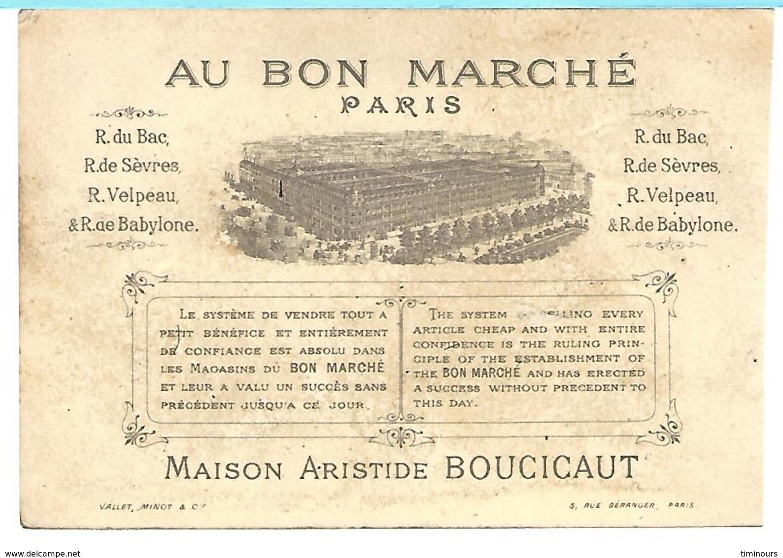 CHROMO AU BON MARCHE, MARINE Garçon Voilier - Au Bon Marché