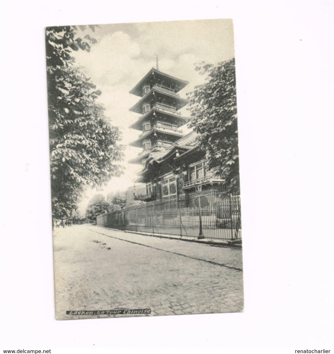 Laeken.La Tour Chinoise.Expédié De Laeken à Anvers. - Laeken