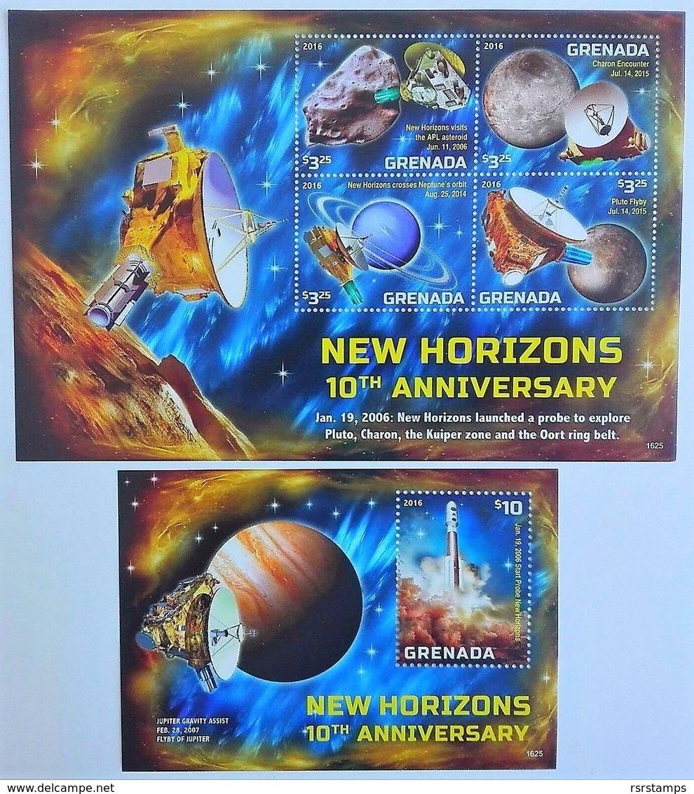 # Grenada 2016**Mi.7340-44 New Horizons 10th Anniversary , MNH [1;27,28] - Raumfahrt
