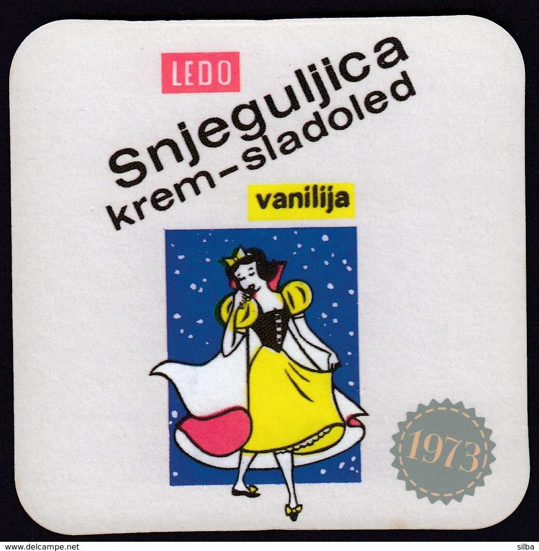Croatia / LEDO Snow White Ice Cream Vanilla / Mat, Coaster - Otras Colecciones