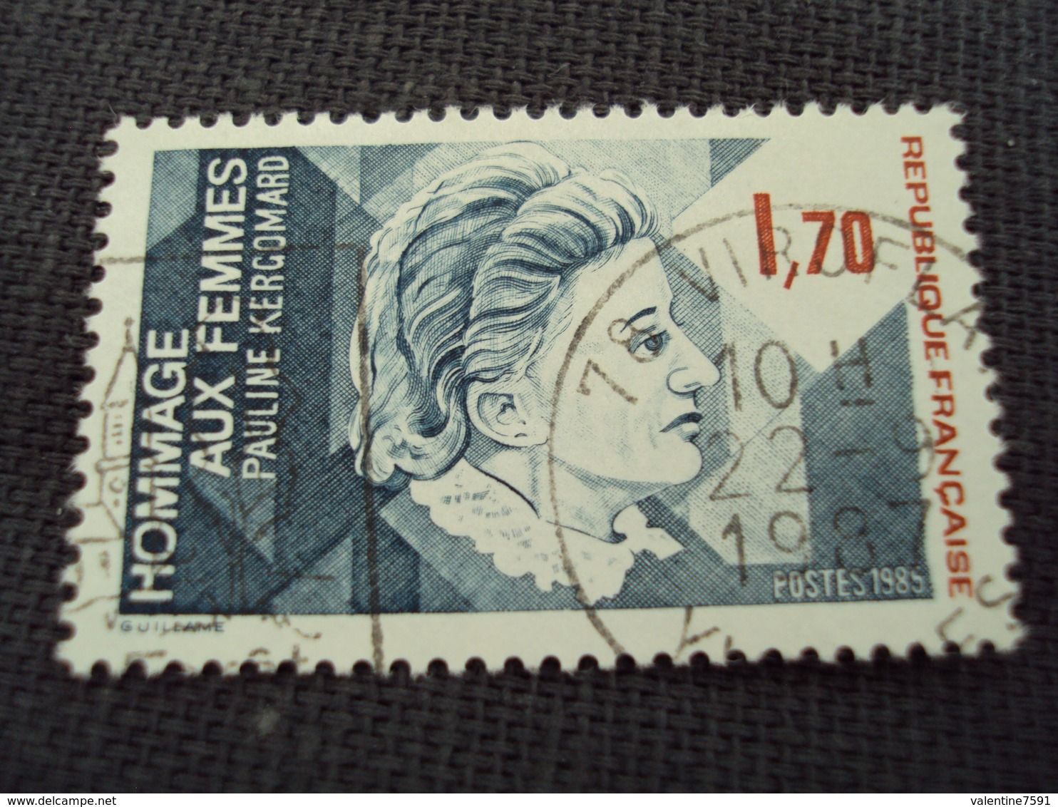 """80-89 Timbre Oblitéré N°  2361  """"  Pauline Kergonard    """"   0.15 - France"""