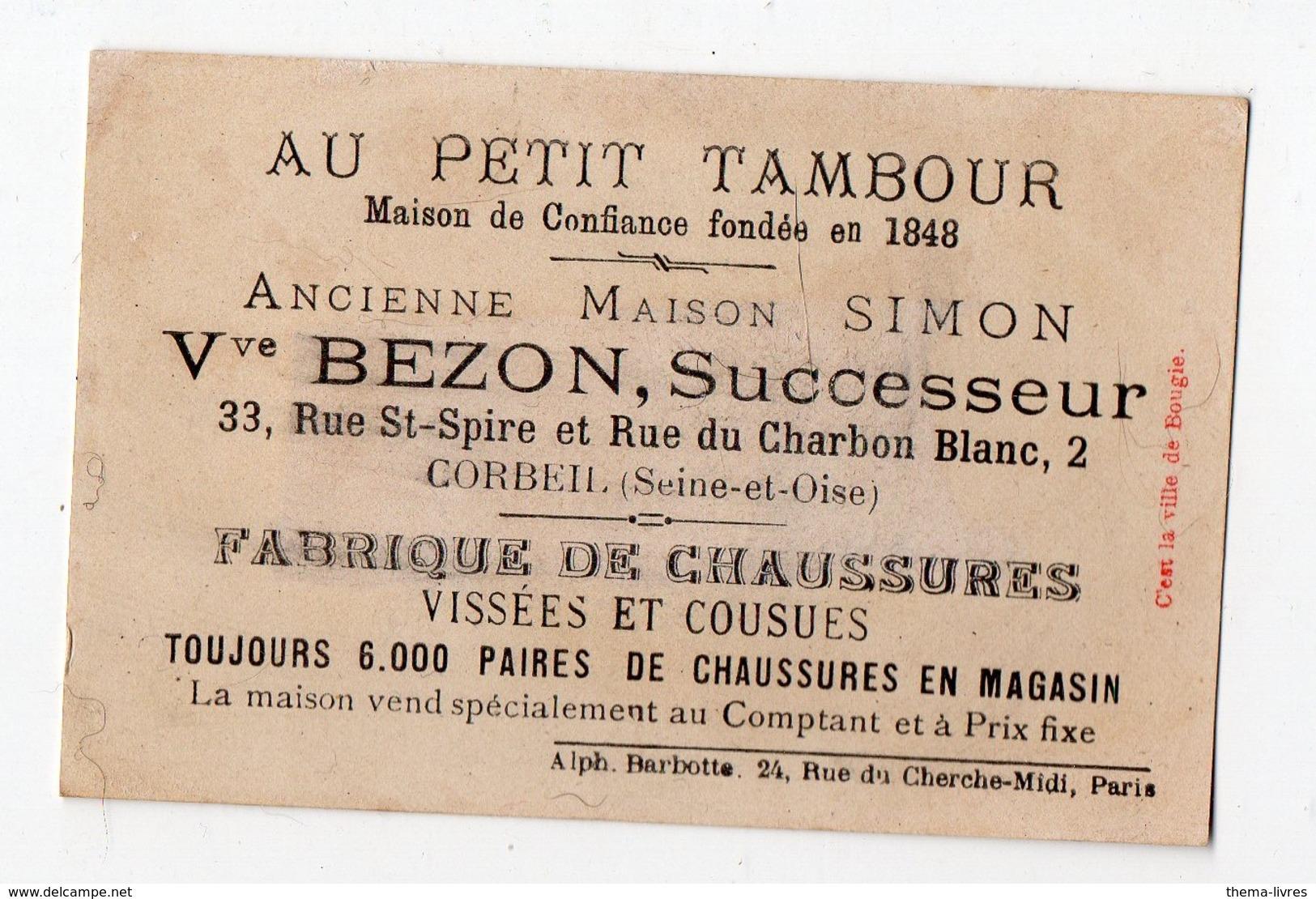 Corbeil (91 Essonne) Lot De 5 Chromos AU PETIT TAMBOUR Devinette-calembour (dont 1 Billard) (PPP17863) - Autres