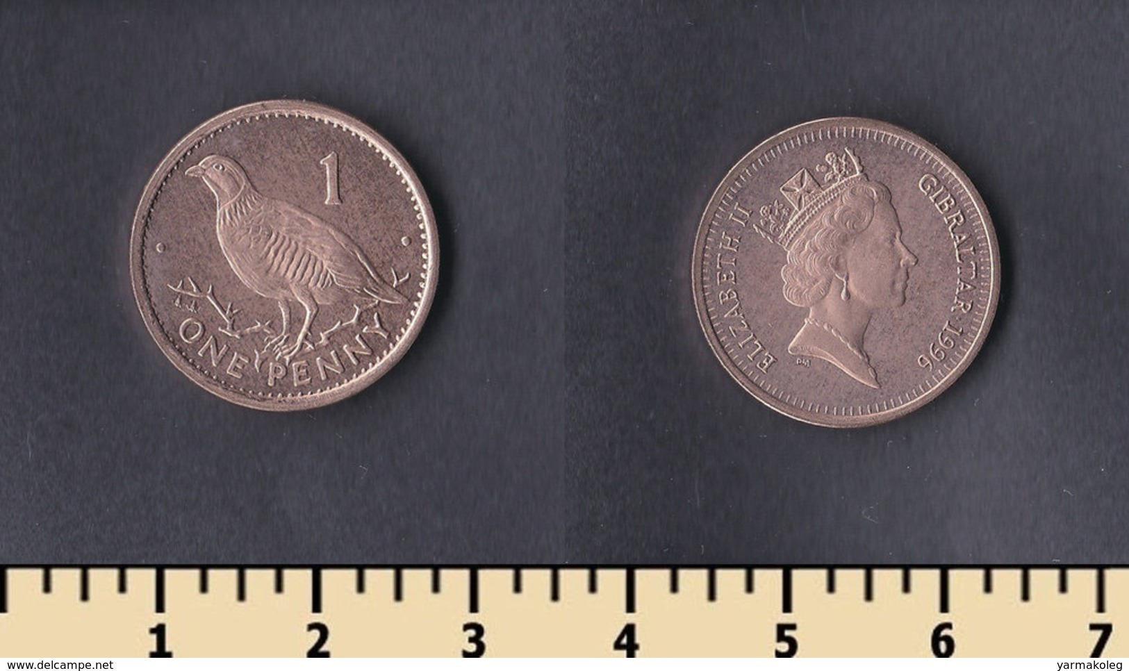 Gibraltar 1 Penny 1996 - Gibraltar