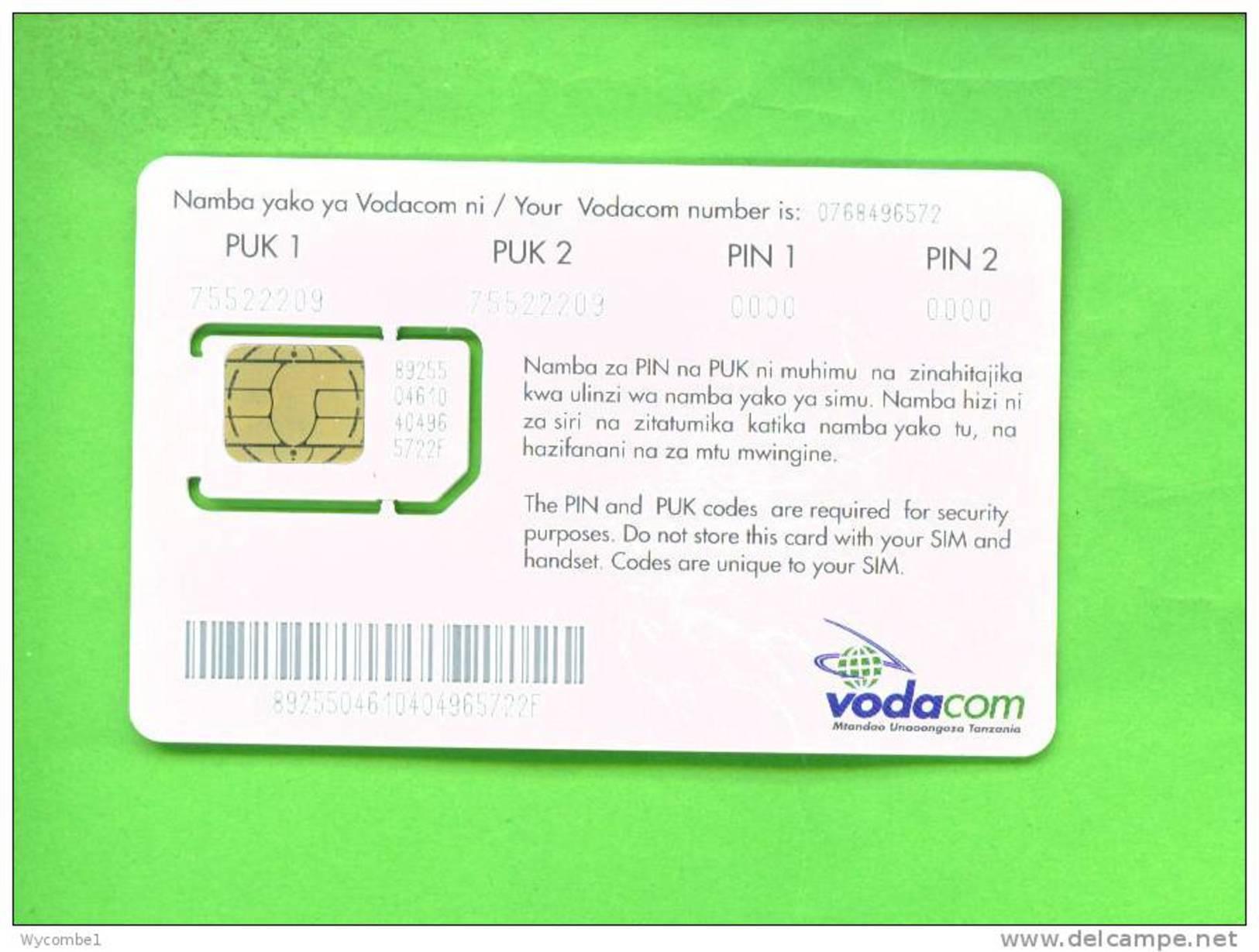 TANZANIA - Mint/Unused SIM Chip Phonecard/Vodacom As Scans - Tanzania