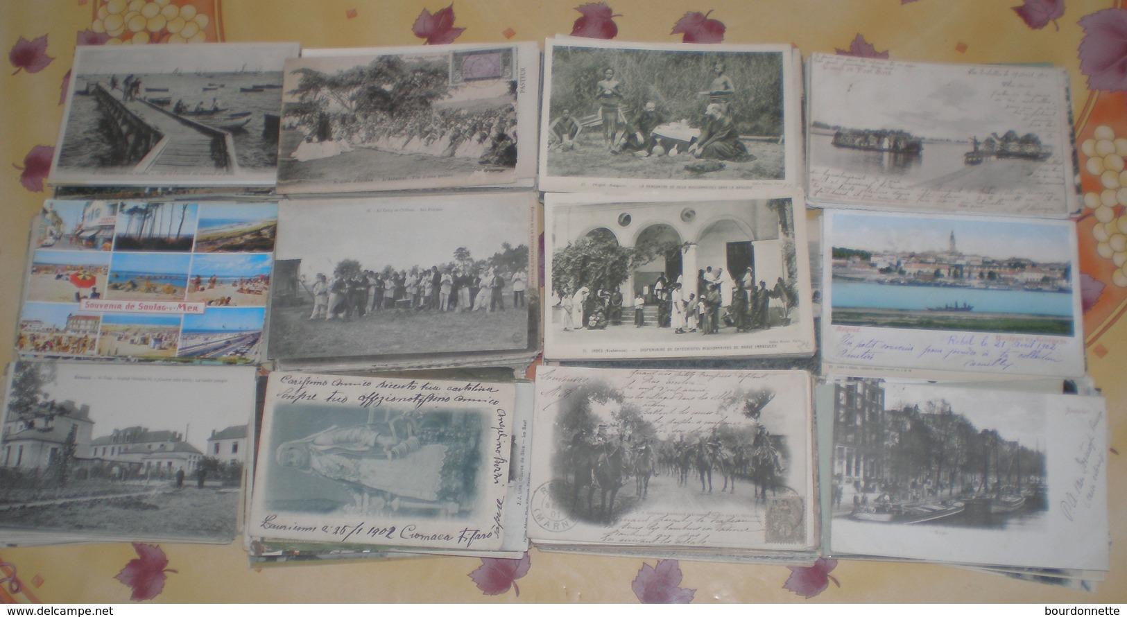 Lot De 533 Cartes Postales Anciennes - 500 CP Min.