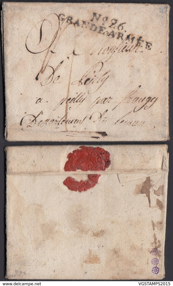 """France - Lettre Date Hanovre 18/11/1807 """" Nº26 Grande Armée """"  (7G37423) DC2645 - Postmark Collection (Covers)"""