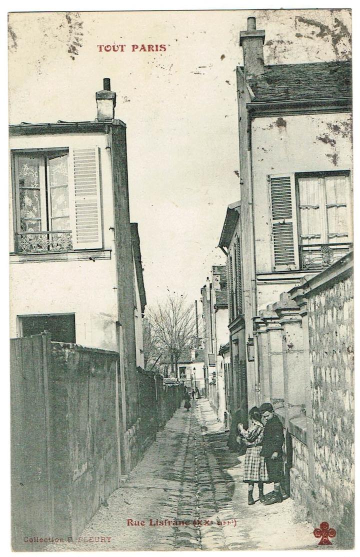 Tout Paris - Rue Lisfranc. Animée, Tb état  Datée 1906. - Arrondissement: 20
