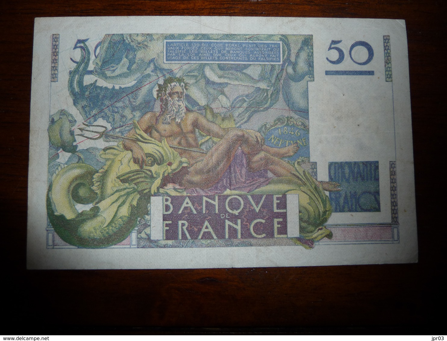 FRANCE * LE VERRIER  -   50  Francs - J 20.3.1947   -    K51 - 1871-1952 Circulated During XXth
