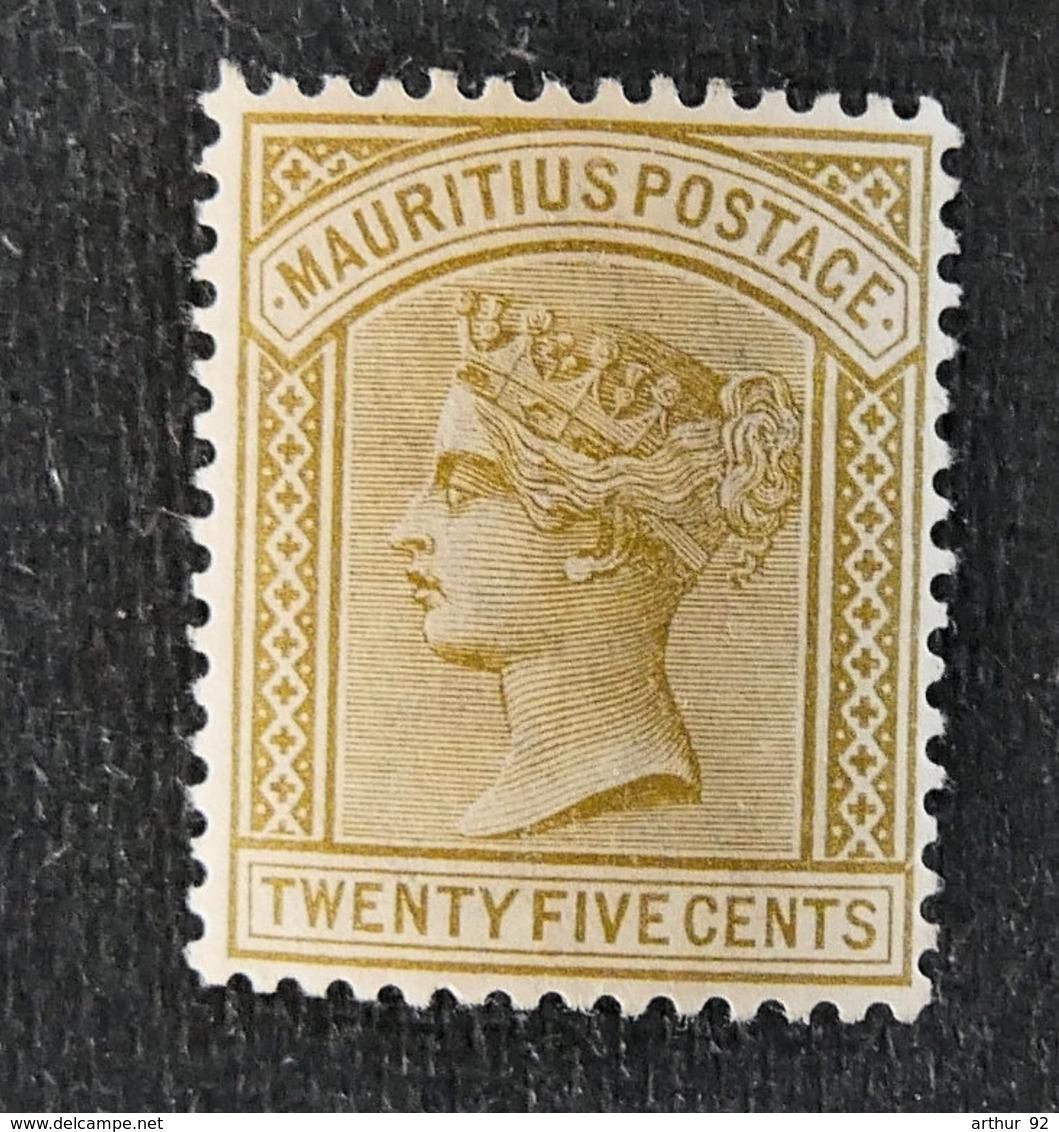 ILE MAURICE - MAURITIUS - 1882 - YT 74** - EFFIGIE VICTORIA - Mauritius (1968-...)