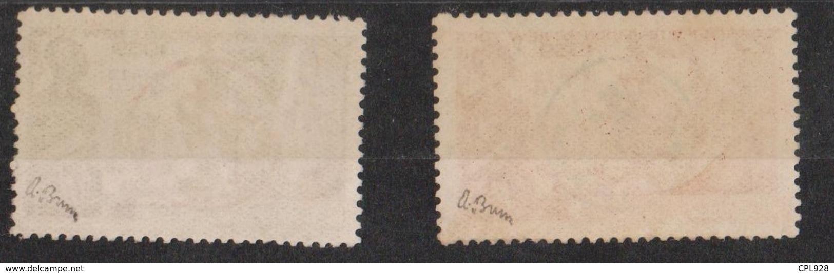 Etabl. Français Dans L'Inde N° 230 CC à 230 DD Signés A. BRUN Cote: 700€ - Used Stamps
