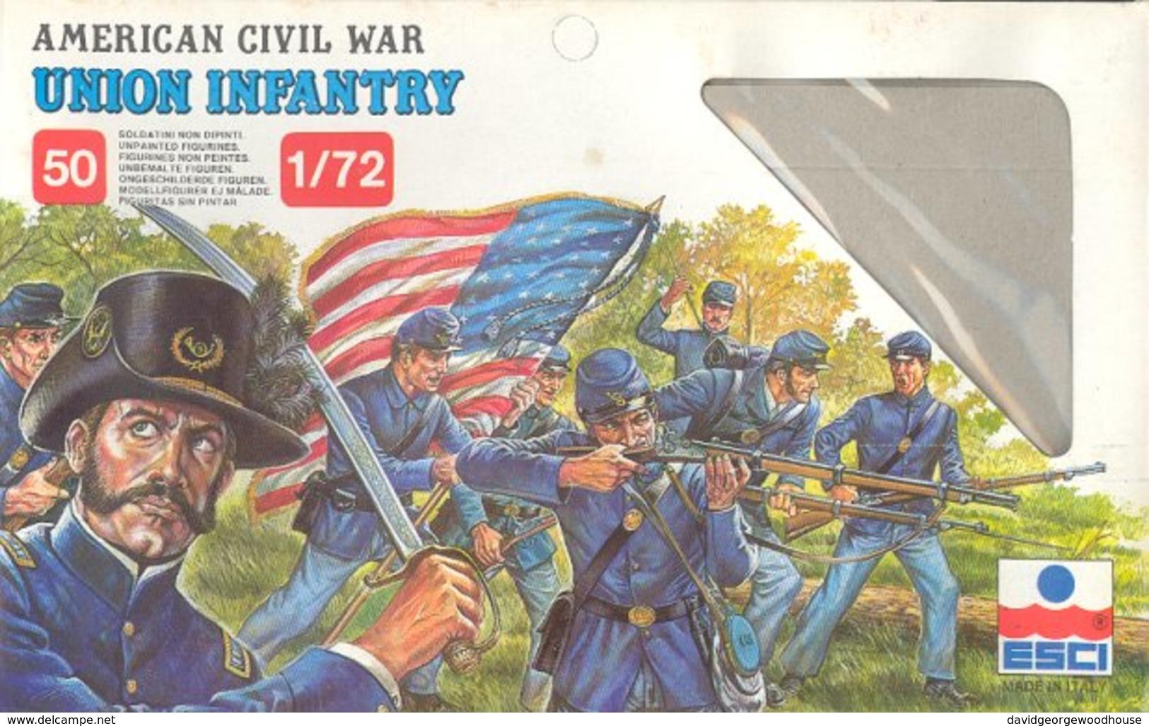 ESCI 222 American Civil War Union Infantry. - Small Figures
