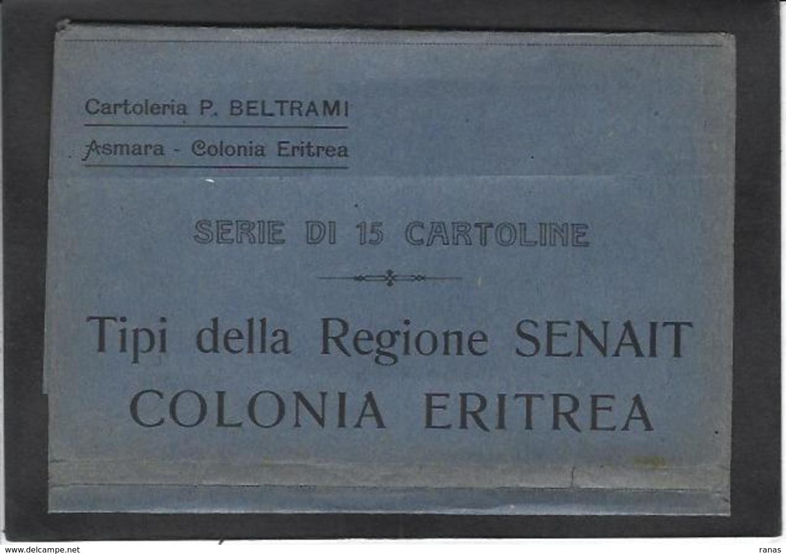CPA Erythrée Afrique Colonie Italienne Italie Type Ethnic ERITREA Non Circulé - Erythrée