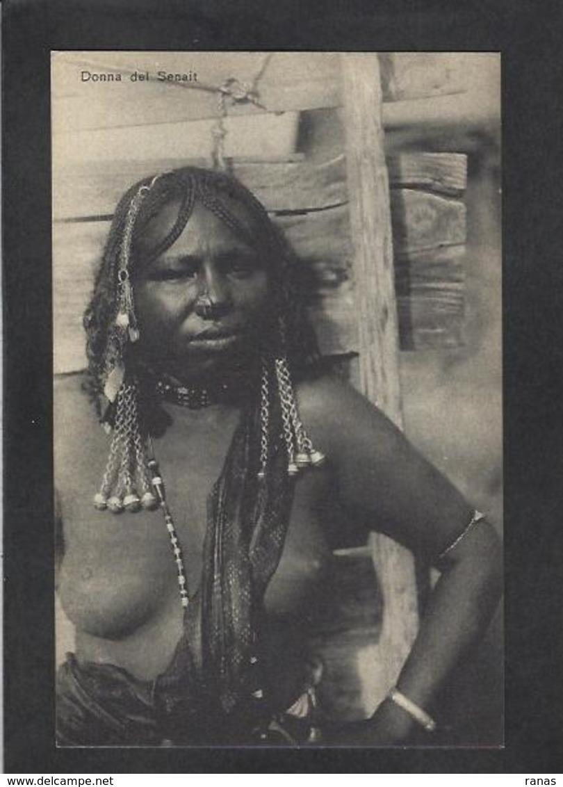 CPA Erythrée Afrique Colonie Italienne Italie Type Ethnic ERITREA Non Circulé Nu Féminin Femme Nue - Erythrée