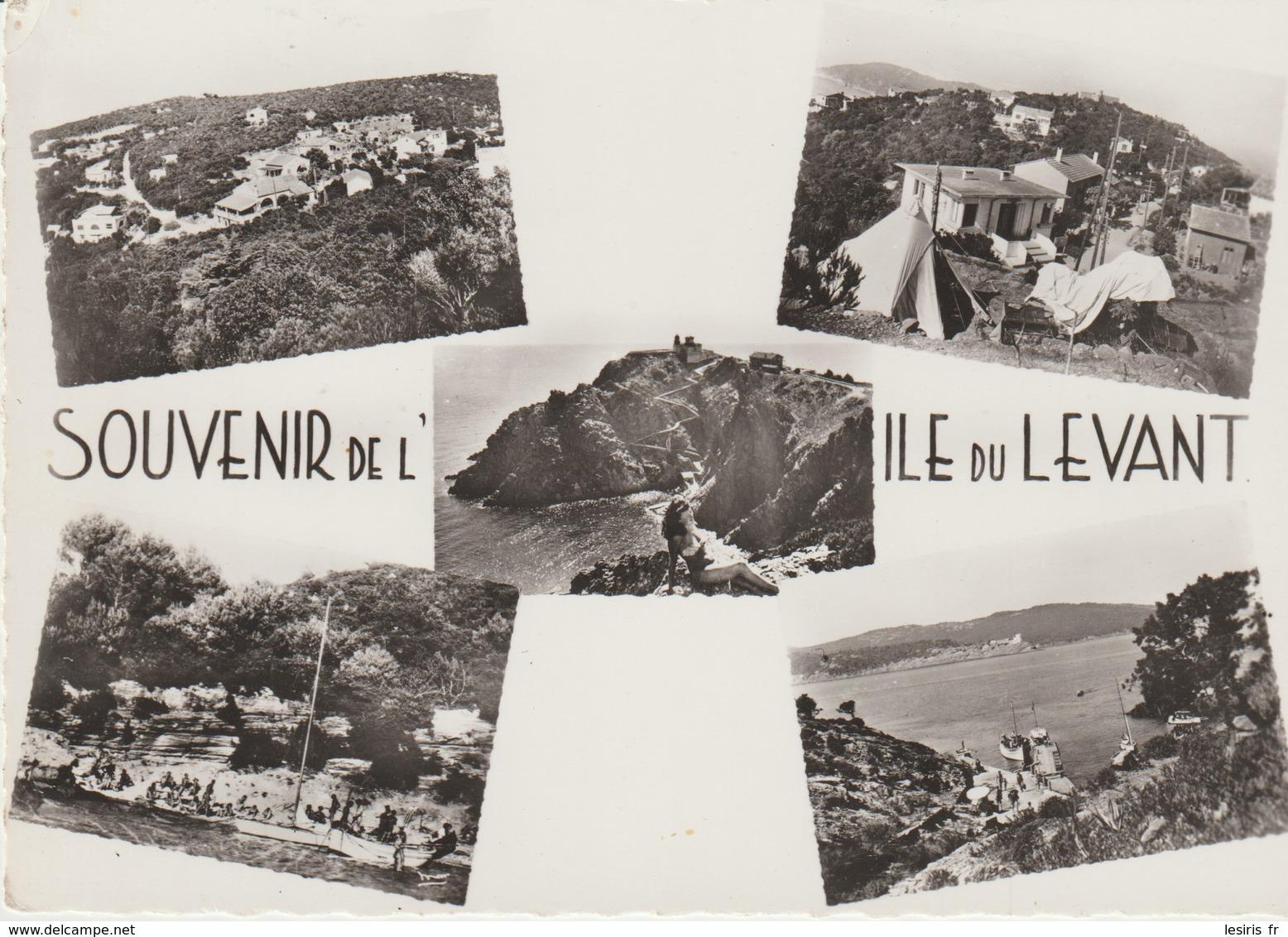 C. P. -  PHOTO - SOUVENIR DE L'ÎLE DU LEVANT -  5 VUES - 8884 - DROSSOS - MAR - Otros Municipios