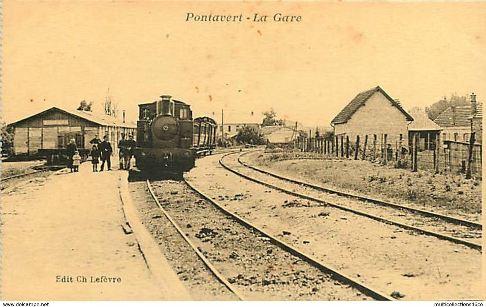 280319D - 02 PONTAVERT La Gare - Chemin De Fer Train Loco - Ch Lefèvre éditeur - Otros Municipios