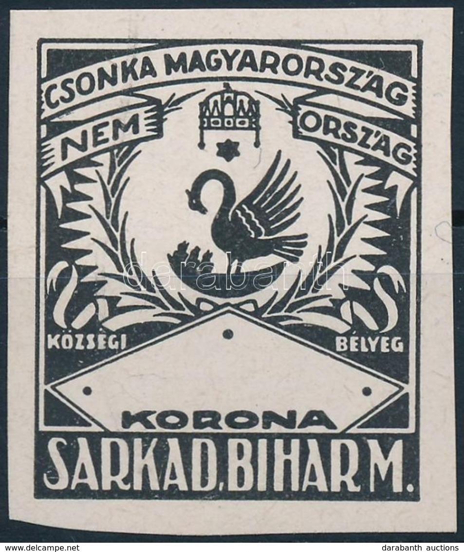 1922 Sarkad MINTA Városi Illetékbélyeg (15.000) - Vieux Papiers