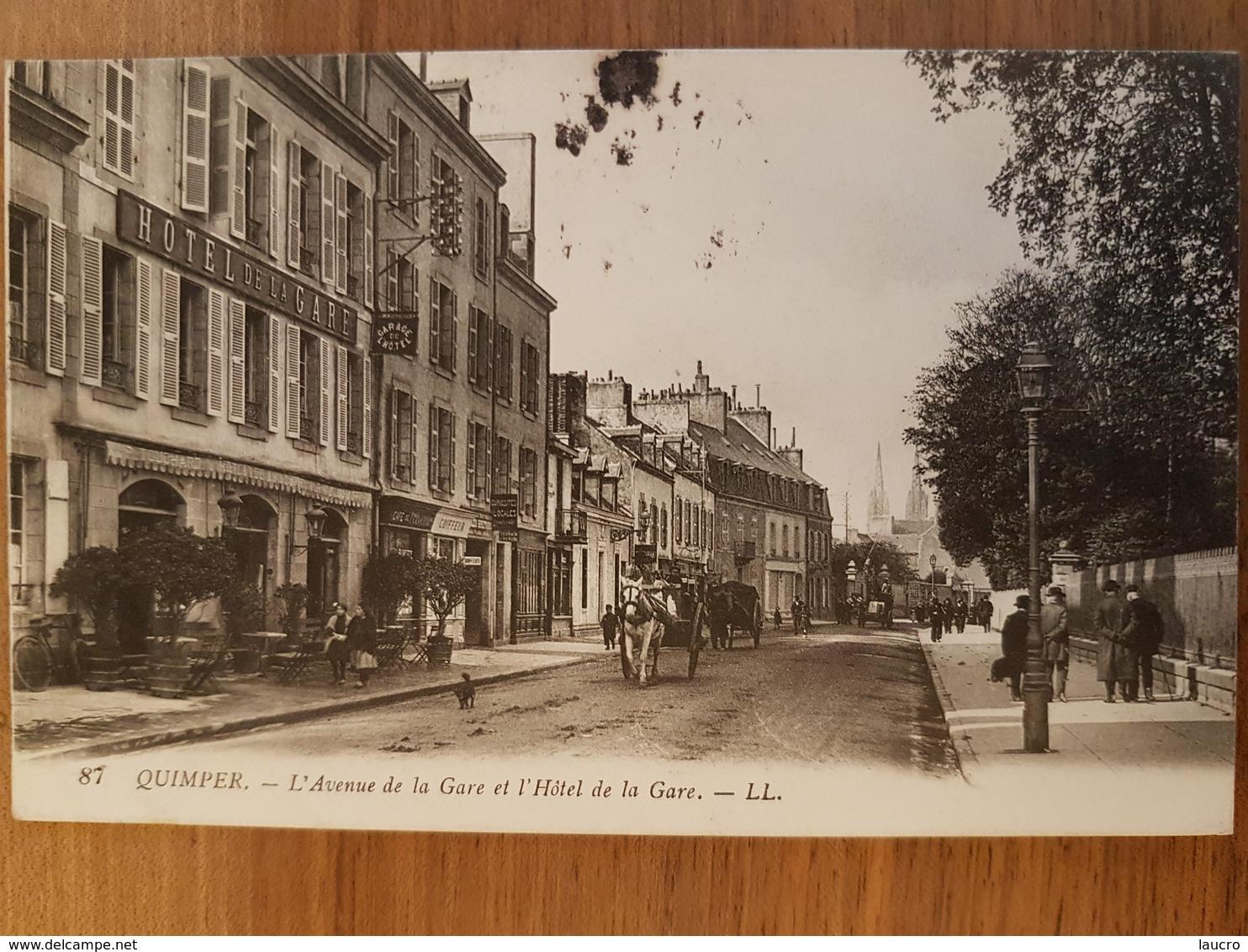 Quimper.l'avenue De La Gare.cachet Militaire - Quimper