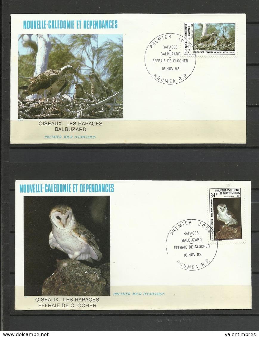 Nouvelle Calédonie   FDC YT 479/80 Oiseaux Rapaces Balbuzard Effraie De Clocher  Birds - Nieuw-Caledonië