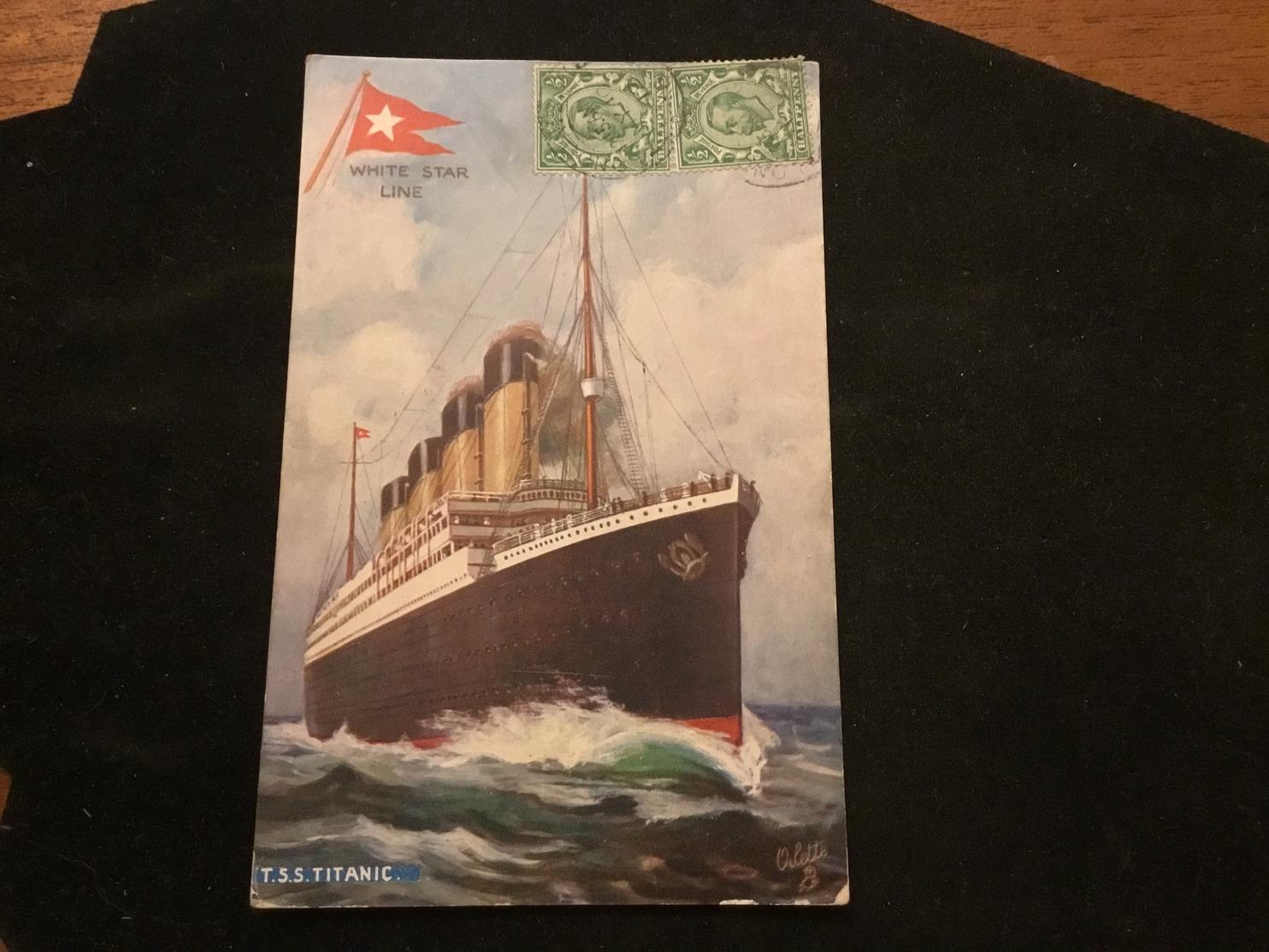 White Star Line T.S.S Titanic - Paquebots
