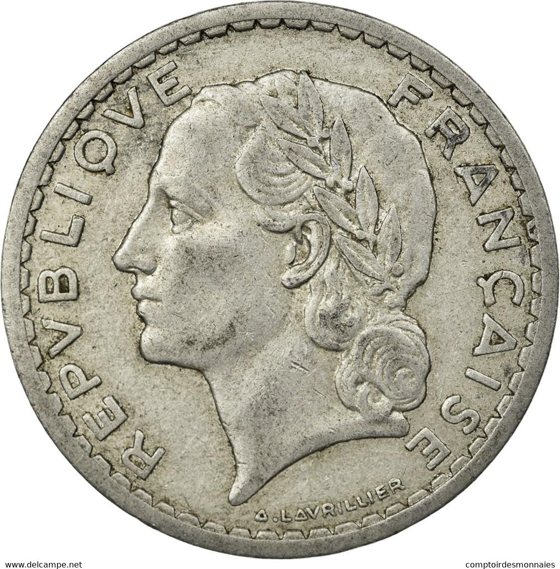 Monnaie, France, Lavrillier, 5 Francs, 1945, Beaumont - Le Roger, TTB - France