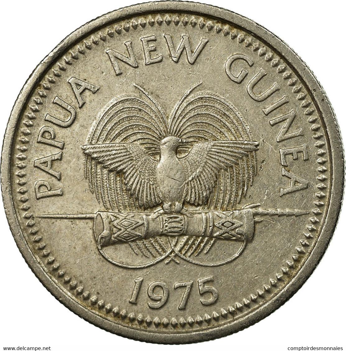 Monnaie, Papua New Guinea, 10 Toea, 1975, TTB, Copper-nickel, KM:4 - Papouasie-Nouvelle-Guinée