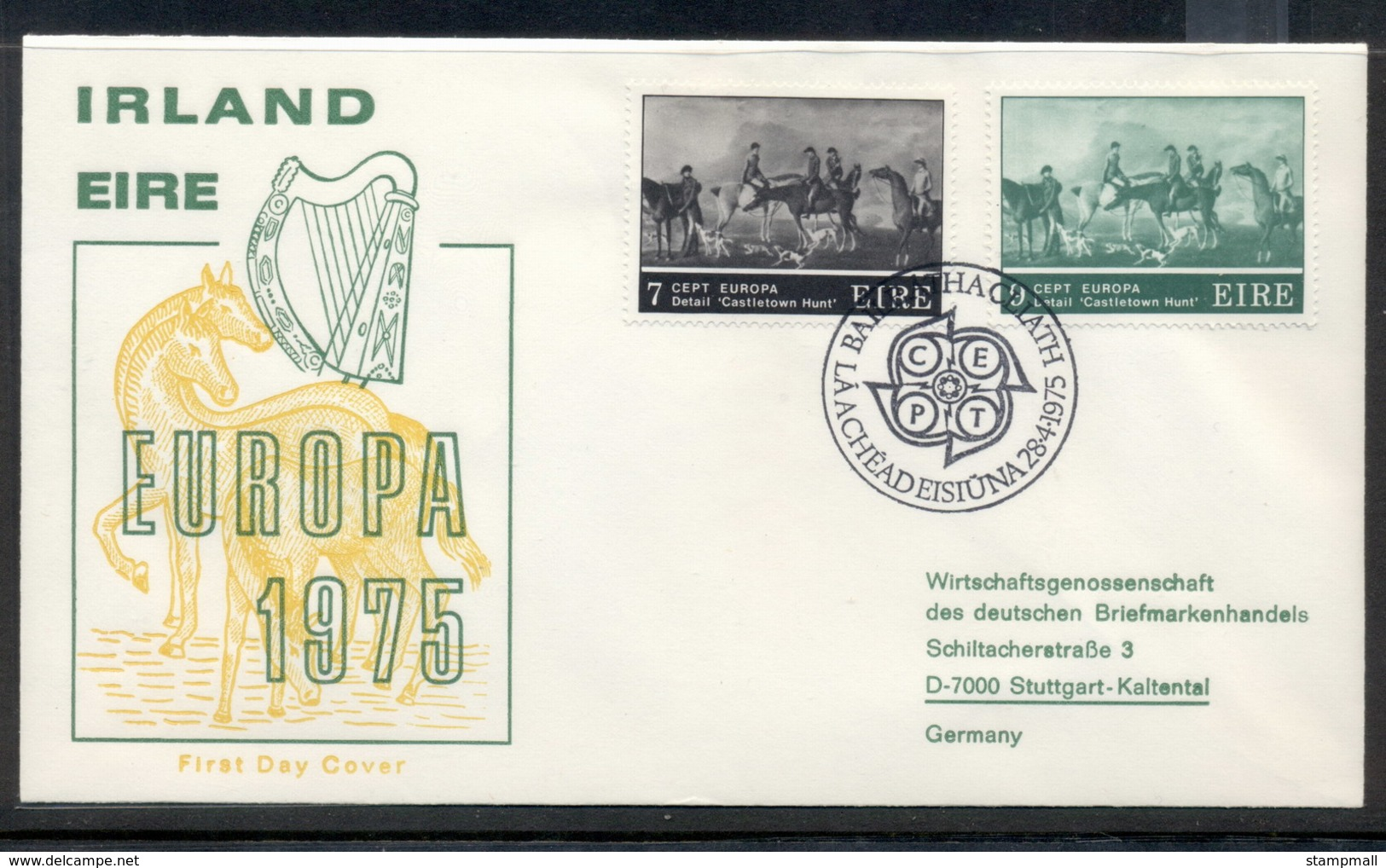 Ireland 1975 Europa Paintings FDC - FDC