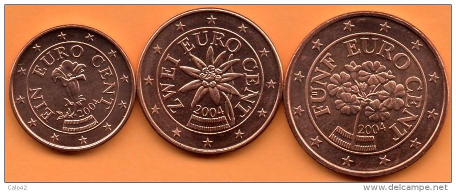 AUTRICHE / AUSTRIA 1+2+5 EURO CENT 2004 To The Roll / De Rouleau - Autriche