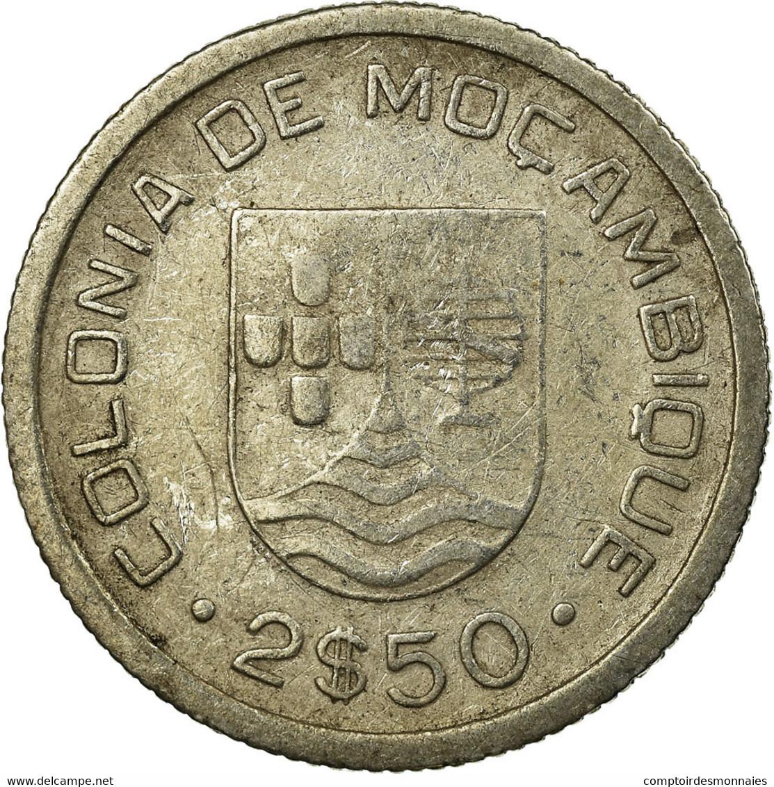 Monnaie, Mozambique, 2-1/2 Escudos, 1935, TB+, Argent, KM:61 - Mozambique