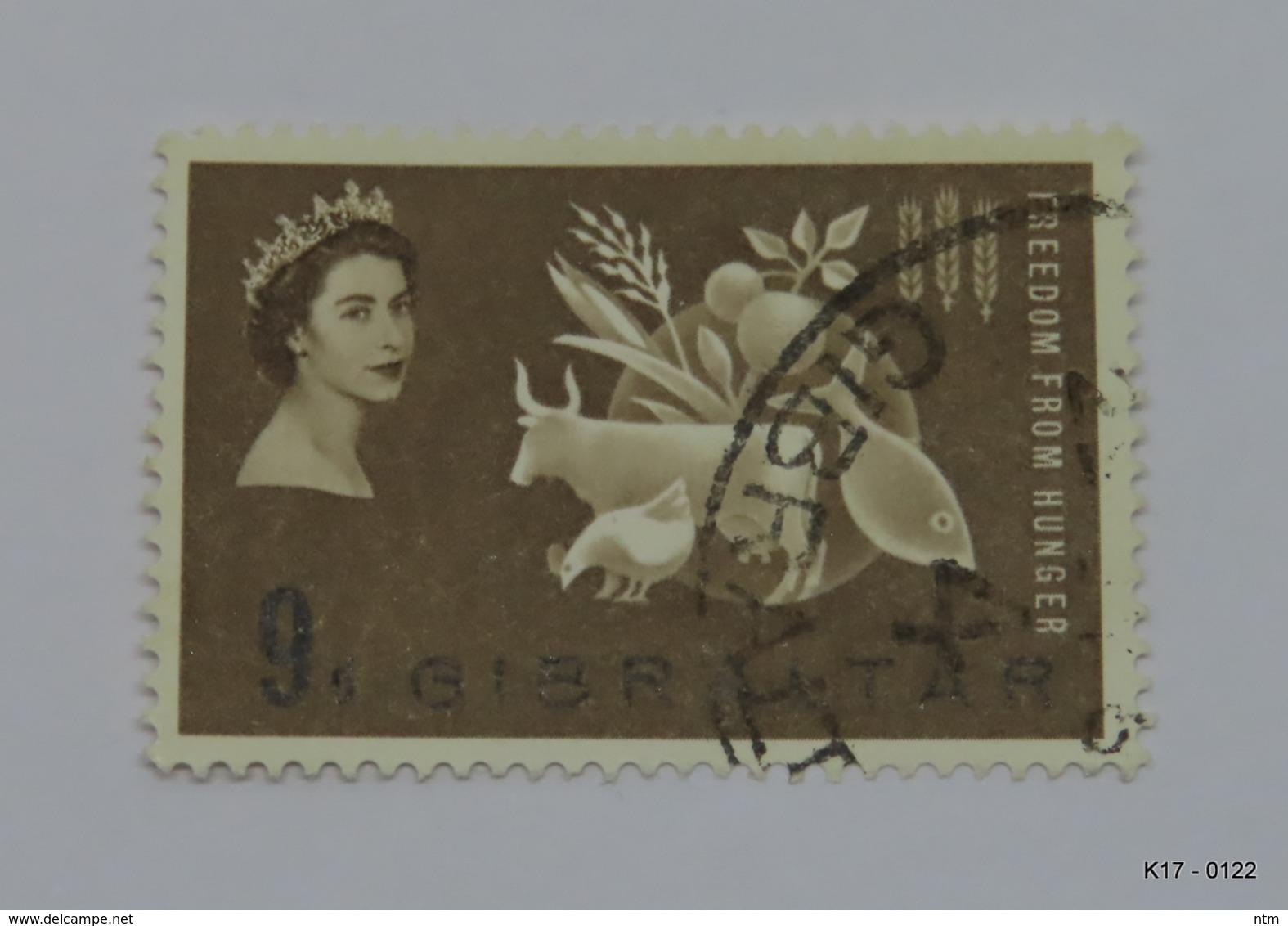 GIBRALTAR 1963. Freedom From Hunger. Protein Foods. 9d. SG 174. Used. - Gibraltar