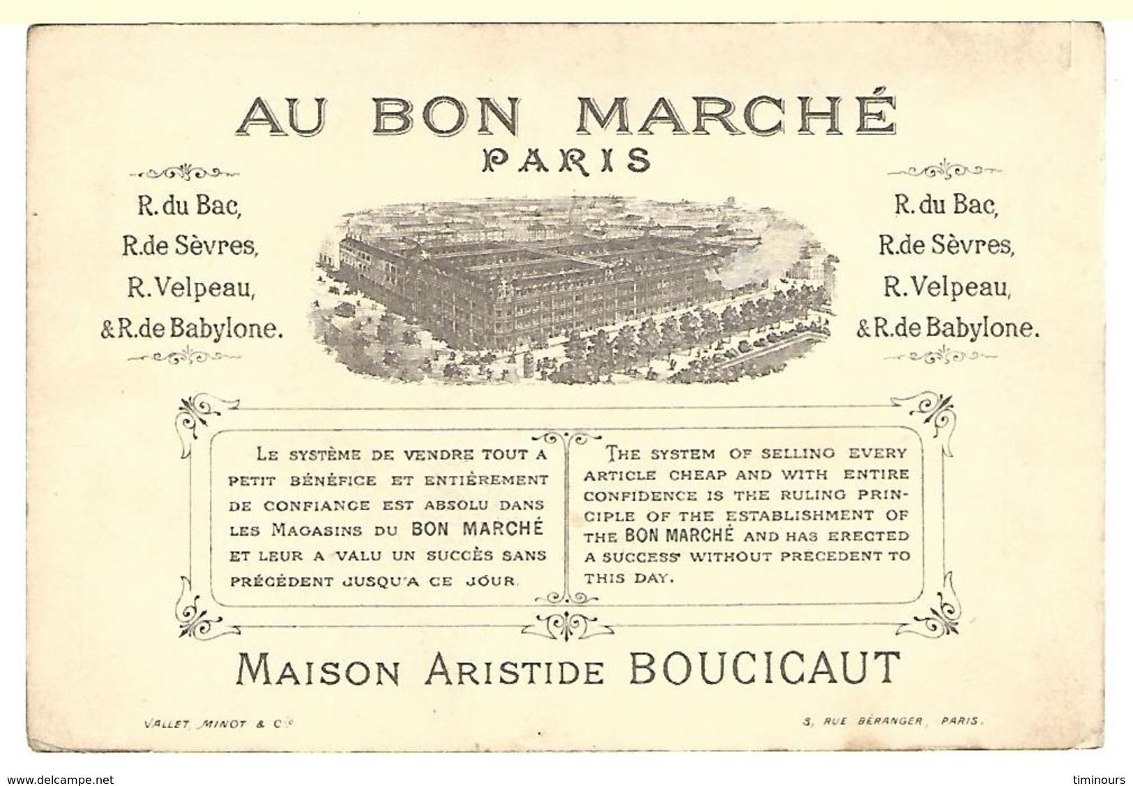 CHROMO AU BON MARCHE GENDARMERIE Garçon Chien Sabre - Au Bon Marché