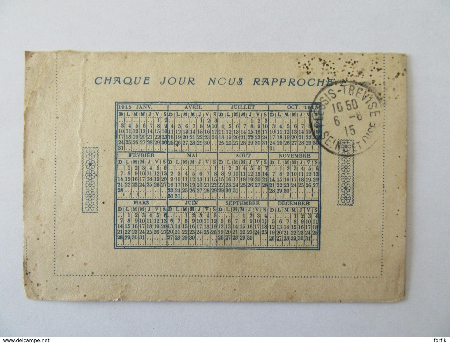 Lot De 7 Correspondances Militaires Guerre 14-18 Dont Cartes-lettres, Cartes Postales- Circulées, Certaines Avec Cachets - Postmark Collection (Covers)