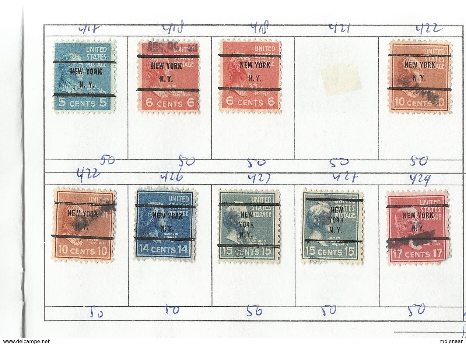 U.S.A 332 Zegels Met Voorafstempelingen (Precancels) - United States