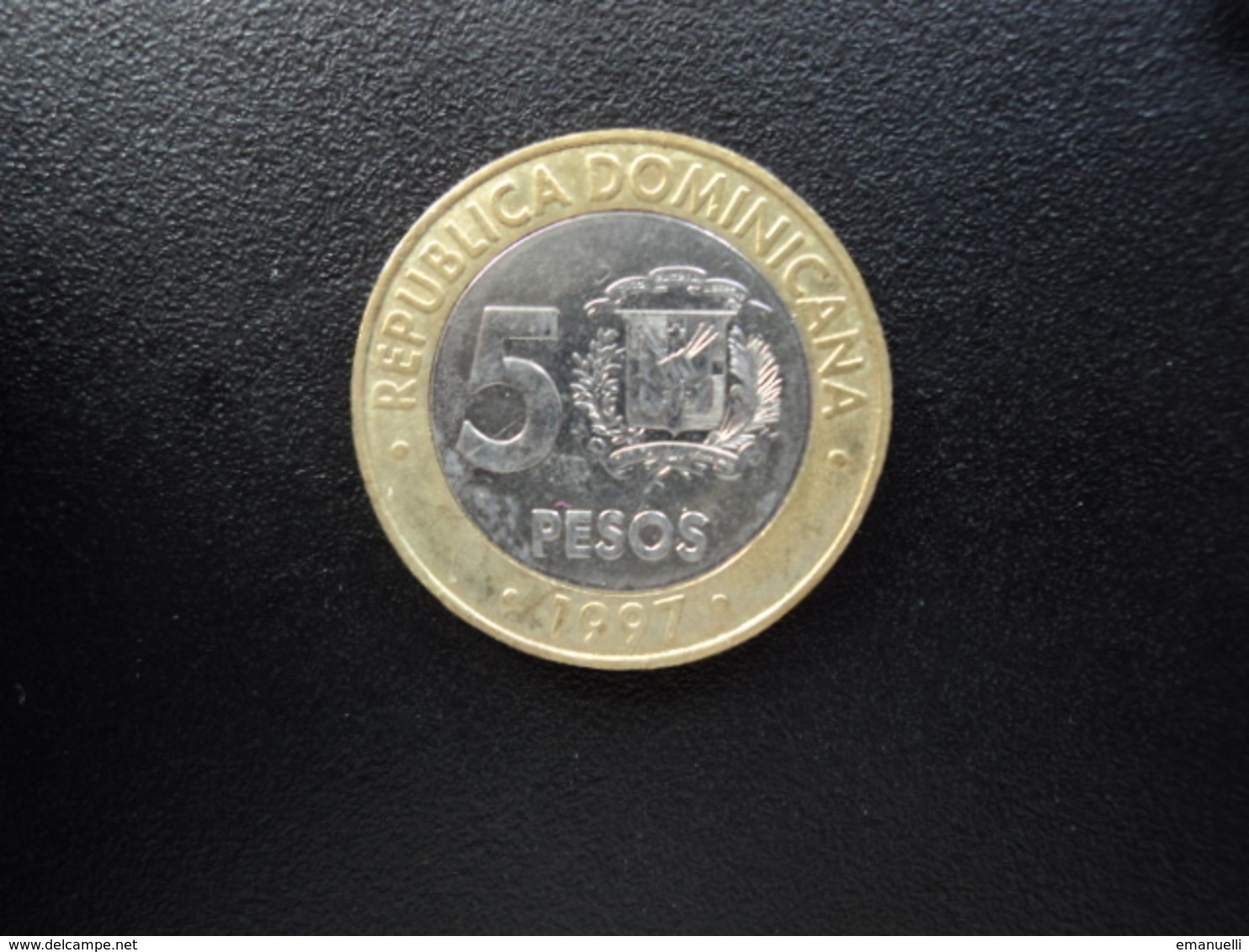 RÉPUBLIQUE DOMINICAINE : 5 PESOS   1997   KM 88     SUP+ (non Circulé) - Dominicana
