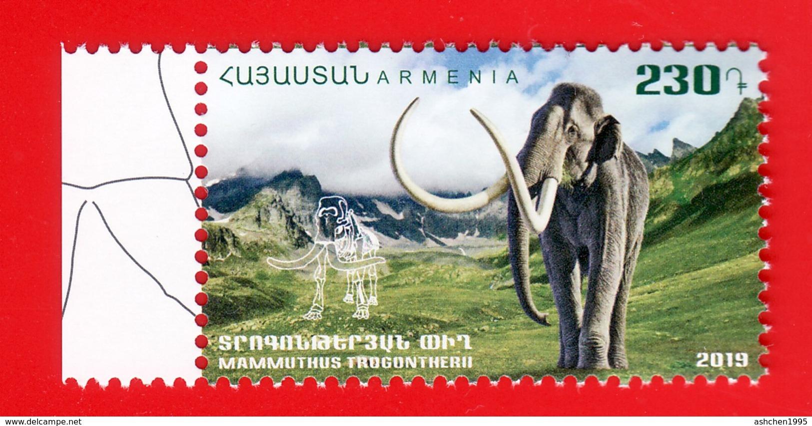 Armenien / Armenie / Armenia 2019, Fauna Of The Ancient World, Steppe Mammoth - MNH - Stamps