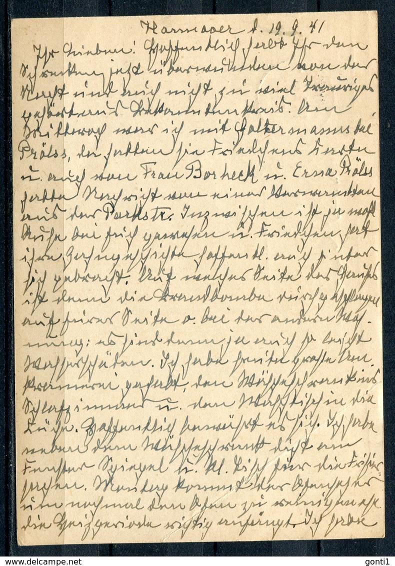 """German Empires1941 GS Mi.Nr.P299 U.Propaganda  MWST""""Hannover-Besucht Die Wehrmachts-Ausstellung-Armeen Werden....""""1Beleg - Briefe U. Dokumente"""