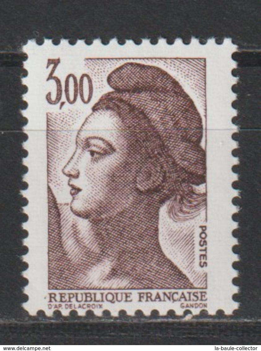 YT 2243a ** 3,00F Brun-violet Liberté, Sans BP, Papier Luminescent - Varieties: 1980-89 Mint/hinged