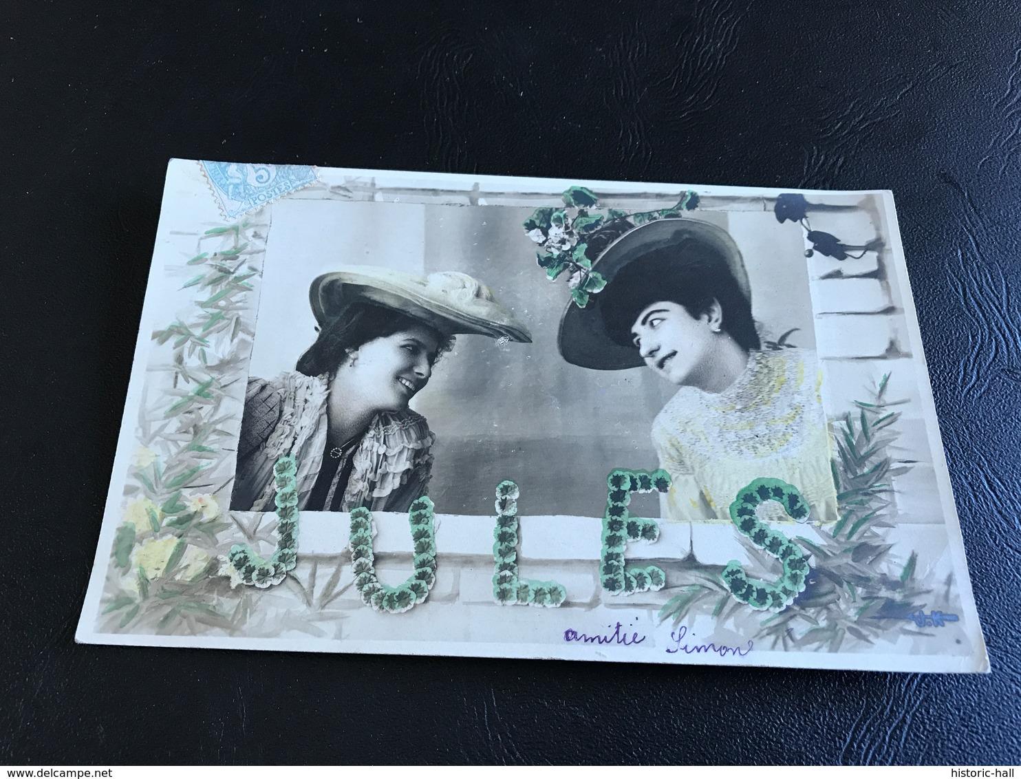Demoiselles Aux Chapeaux - JULES - 1905 Timbrée - Silhouettes