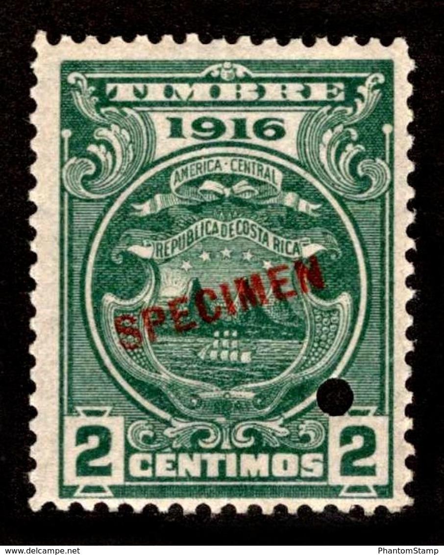 "1916 Costa Rica ""Color Proof Specimen"" - Costa Rica"