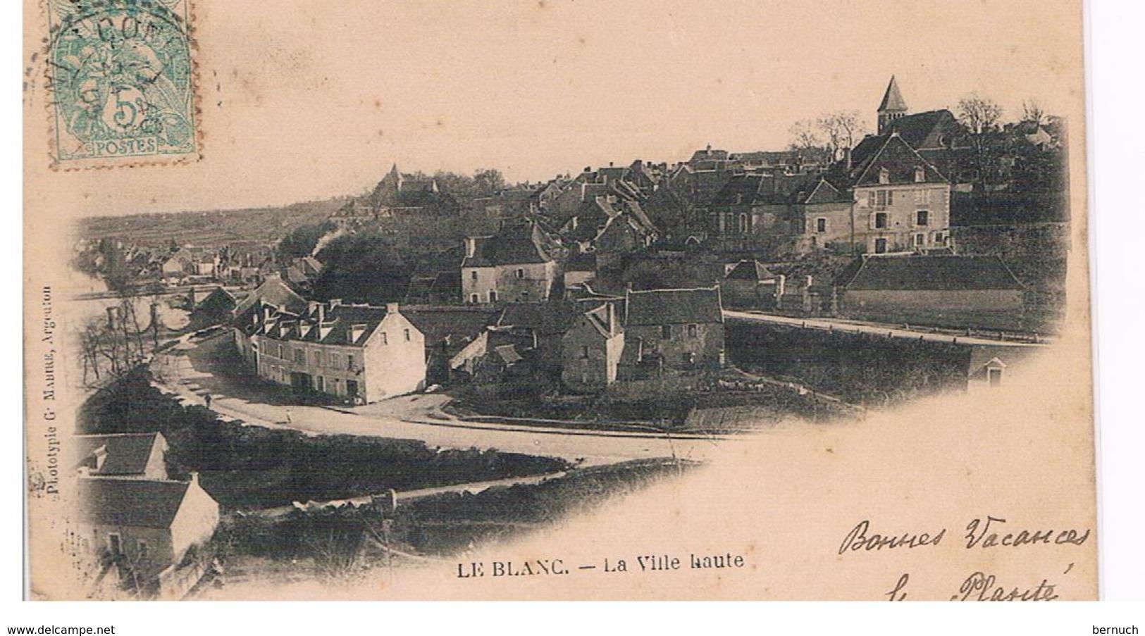 CPA LE BLANC Ville Haute En 1900 Carte Precurseur - Le Blanc