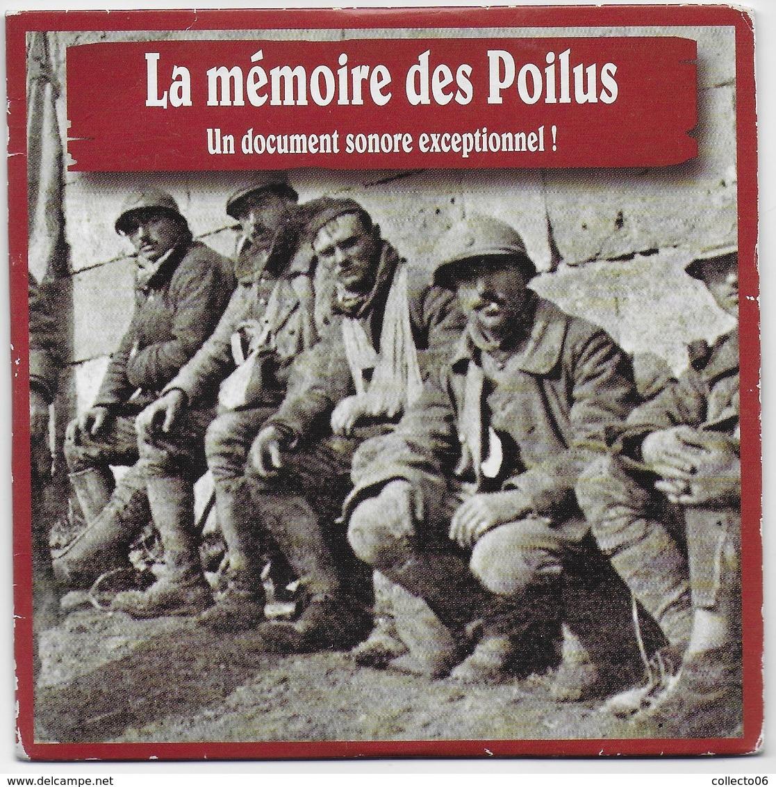 CD La Mémoire Des Poilus Chansons Et Témoignage Guerre 1914 1918 - Sonstige