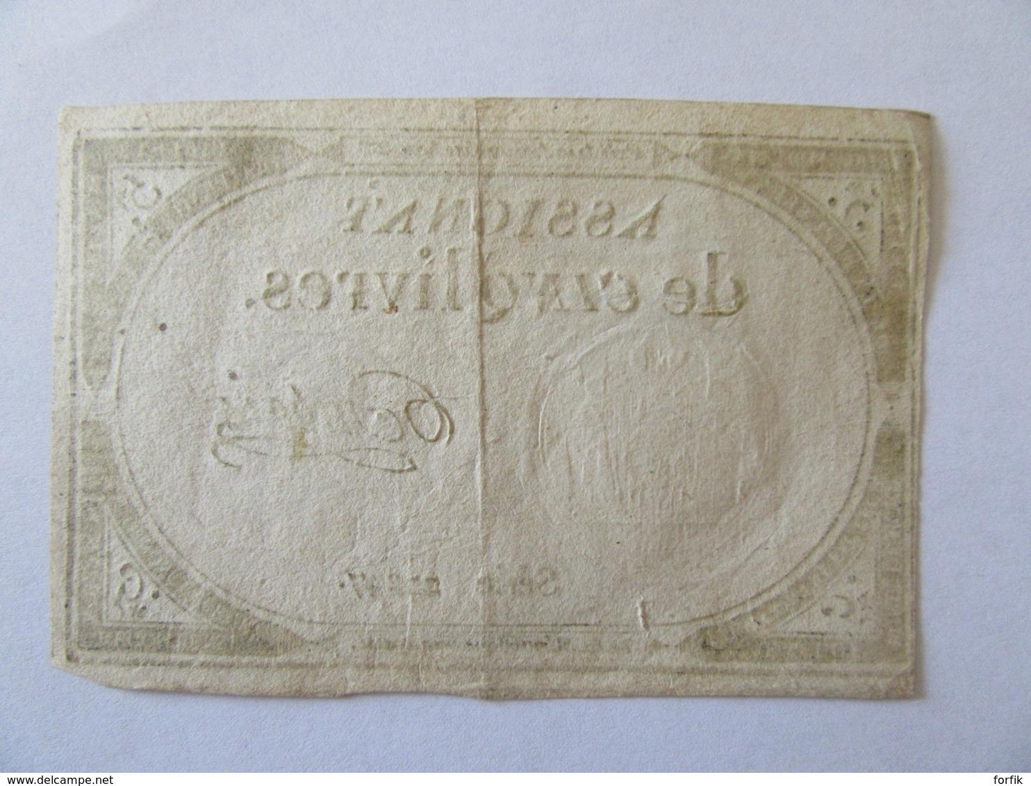 France - Assignat De 5 Livres - Série 20247 - Signature Dubois - Vers 1792 - Assignats