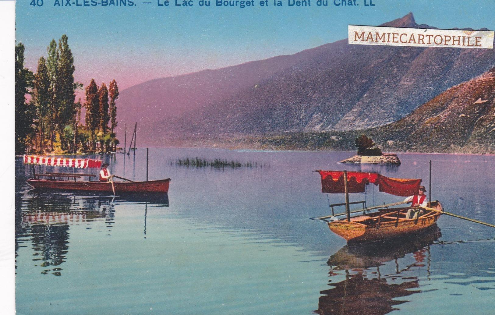 AIX LES BAINS - Dépt 73 -  Le Lac Du Bourget Et La Dent Du Chat - Aix Les Bains