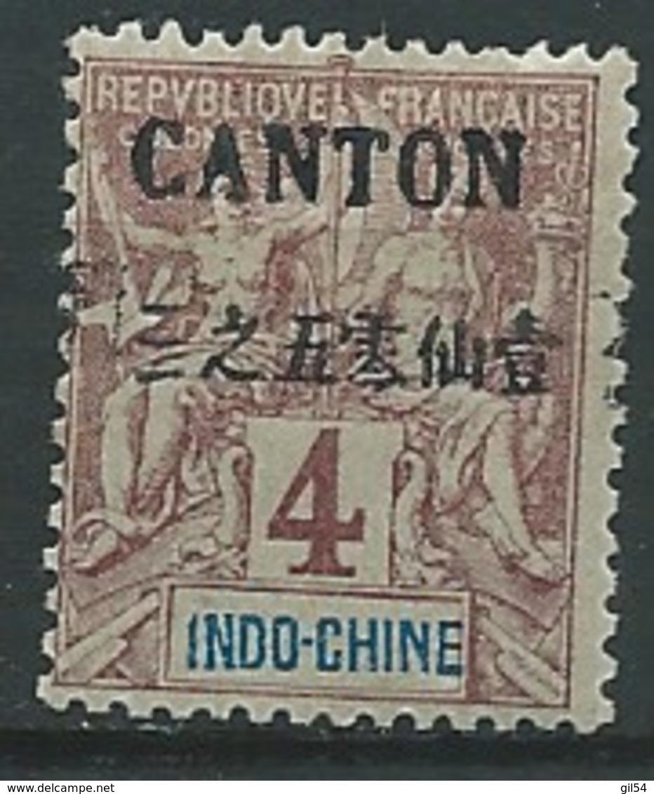 Canton  - Yvert N° 19 * ( Petit Aminci à L'ex Emplacement De La Chaenière)   -  Bce 15706 - Canton (1901-1922)