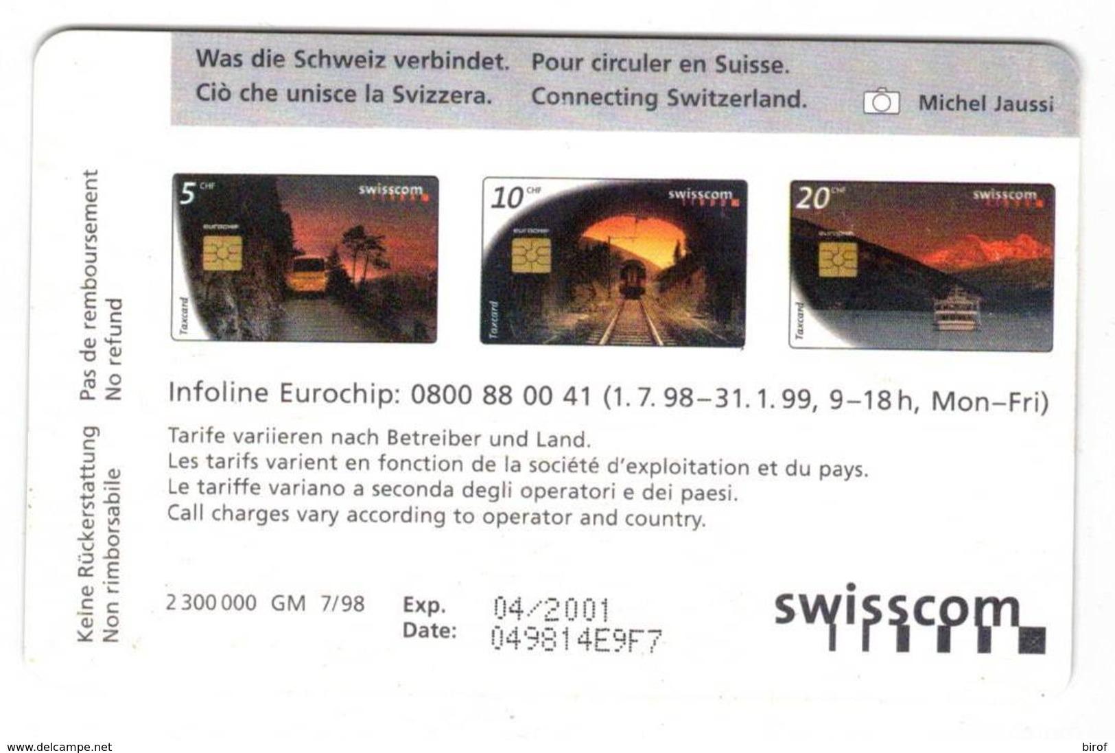 TESSERA TAXCARD 10 CHF  SWISSCOM ( SVIZZERA ) - Svizzera