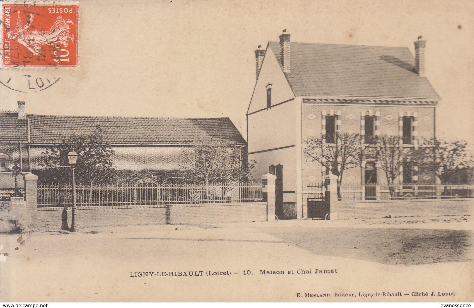 45 LIGNY LE RIBAULT   : Maison Jamet  /// REF  MARS .19 ///   BO. 45 - France