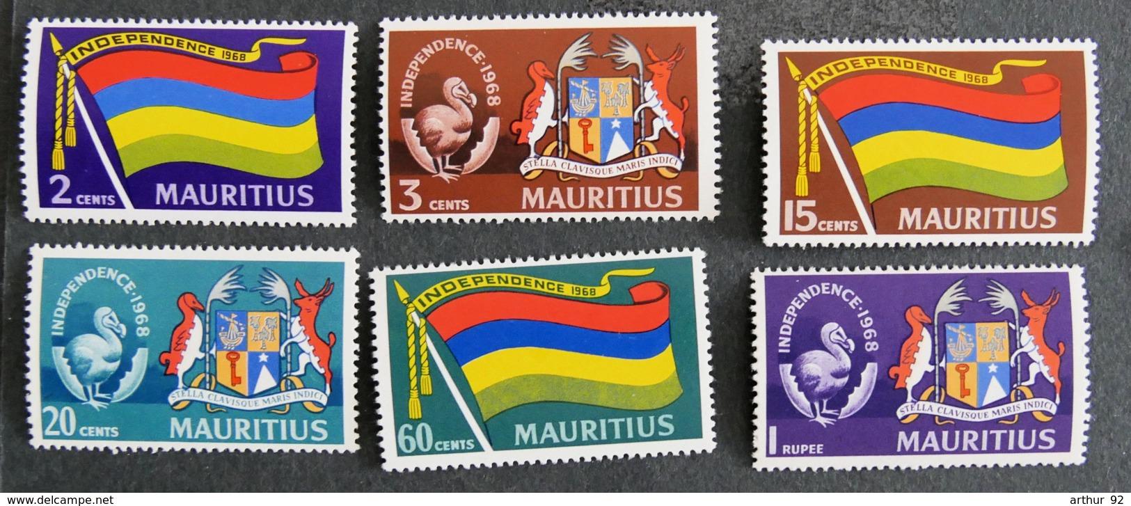 ILE MAURICE - MAURITIUS - 1968 - YT 311** à 316** - INDEPENDANCE - Mauritius (1968-...)
