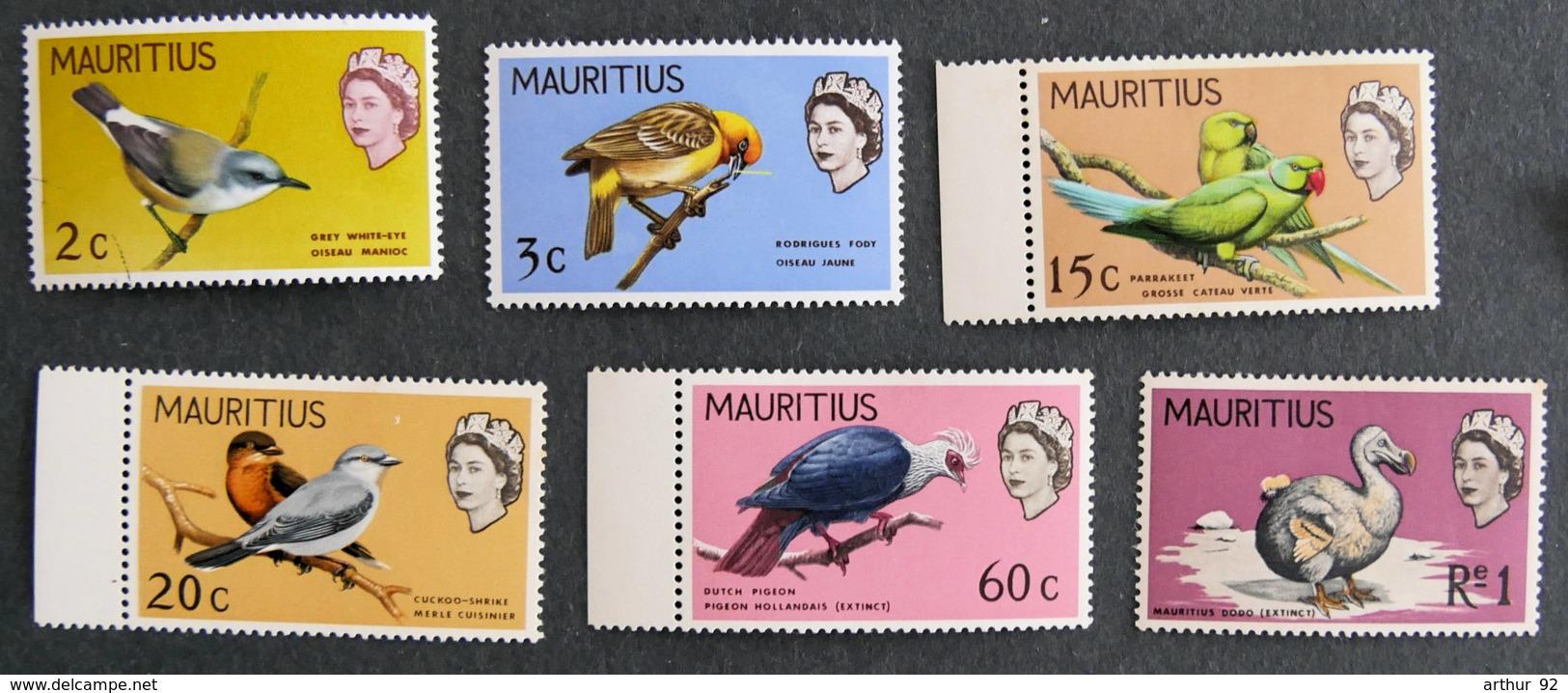ILE MAURICE - MAURITIUS - 1968 - YT 317 à 322** - SERIE COURANTE OISEAUX - Mauritius (1968-...)